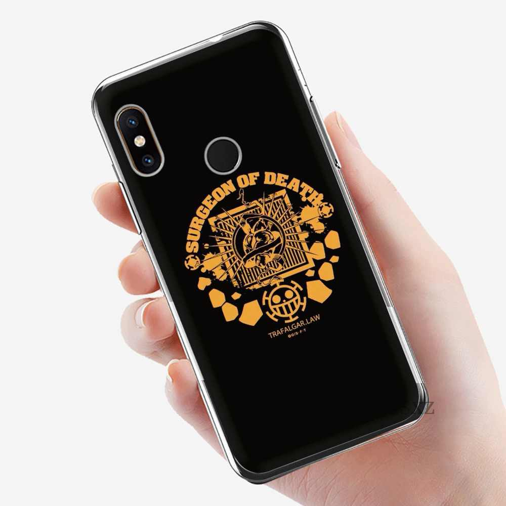 Etui na telefon komórkowy Tpu dla Xiaomi Redmi uwaga 4 4X5 5A 6 7 Pro pokrywa One Piece Trafalgar prawa Logo
