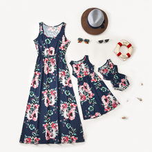 Mother Daughter Family Matching Outfits Floral Tank Dress Summer Baby Girl Mom And Me Women Long Dresses Sundress Clothes Look