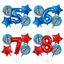 5pcs Sonic the Hedgehog Balloons Super Hero Sega Game Fans Foil Balloon Boy Girl Happy Brithday Party balloons decor supplies 5pcs cute cartoon teenage mutant ninja turtles balloons 18 inch turtles balloon set globo brithday party decorations child toys