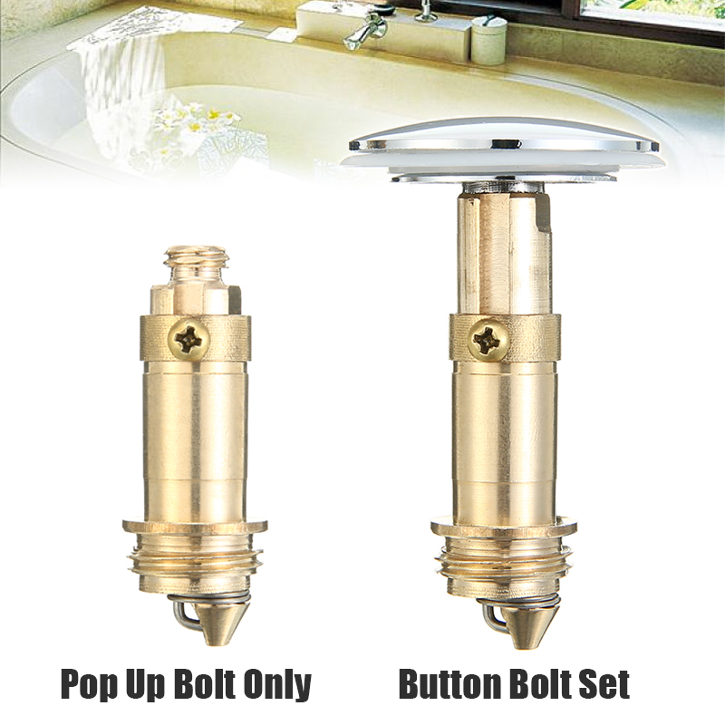 66mm Click Clack Basin Waste Sink Push Button Easy Pop Up Plug Replacement+Bolt