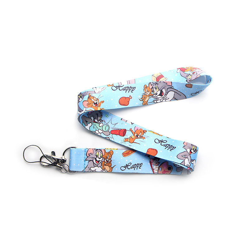 CA178 Wholesale 20pcs/lot Cat and Mouse Lanyard Neck Strap for Key ID Card Cellphone Straps Badge Holder DIY Hanging Rope