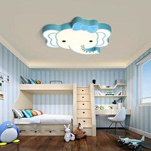 Bebê meninos meninas criança crianças quarto luz da lâmpada do teto conduziu a iluminação bonito animal elefante lâmpada luz de teto berçário