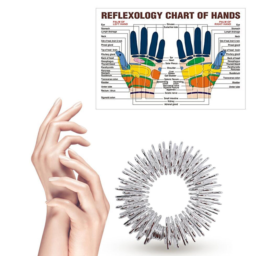 Toys Finger-Rings Spiky Stress Fidget-Sensory Silent Relief 12pcs Acupressure-Rings-Set img2