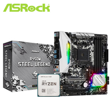 Asrock B450M B450 Moederbord Set Met Ryzen 5 3600 AM4 Cpu Processor