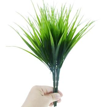 10pcs/lot Green Grass Artificial Plants Plastic Flowers Household Wedding Spring Summer Living Room Decoration
