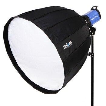 70cm 16 Rods Hexadecagon Deep Parabolic Quick Folding Umbrella Softbox with Bowens Speedring Mount for Photography Flash Light