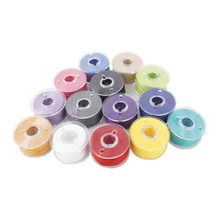 36pcs Thread Bobbins With Clear Storage Box Machine Spools Pre-Wound Set For Household Sewing