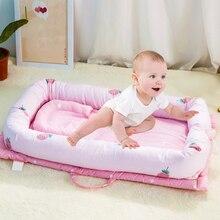 90*50*15 см детское гнездо, портативная детская кровать, кроватка для путешествий, Детская Хлопковая Колыбель для новорожденных, складная колыбель, бамперные кроватки
