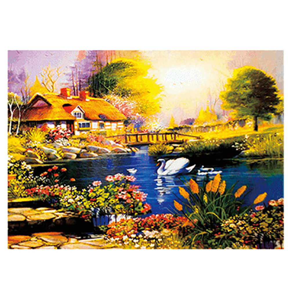 1000 Pieces Jigsaw Puzzle Children's Adult Wooden Puzzle Intelligence Educational Game Toys kids Jigsaw Puzzle toys Stickers 20