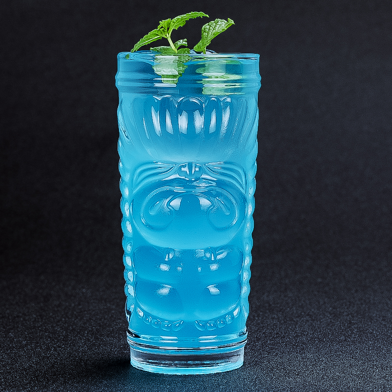 500ml 3D Cartoon Wine Glass Cup Tiki Cup Cocktail Beer Cola Cold Juice Cups Creative Glass Drinking Set Bar Home Collins