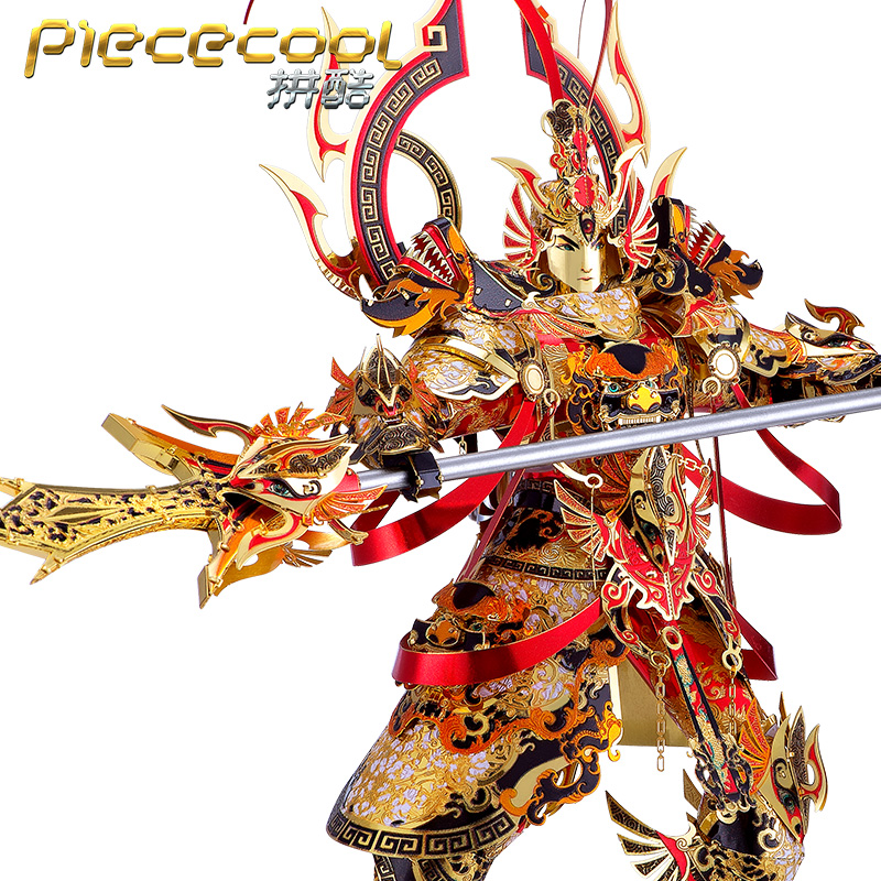Piececool 3D Metal Puzzle ER-LANG GOD model kits DIY Laser Cut Puzzles Jigsaw Model Educational Toys For Children Adult