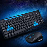 New 2.4G Wireless Gaming Keyboard + Mouse Set Combo for Desktops Laptops PC VDX99