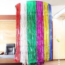 2 м цветной светильник, занавес от дождя, фон для дня рождения, свадьбы, Декорации стен, Декорации для сцены