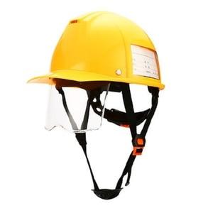 Image 2 - ABS Casco di Sicurezza Di costruzione con Retrattile Trasparente di Protezione Degli Occhi Della Luce Dello Schermo Anti Forte Impatto In Metallo taglio di Estrazione Mineraria