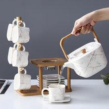 Семейный набор кофейного чая с цветами кофейная чашка полкой