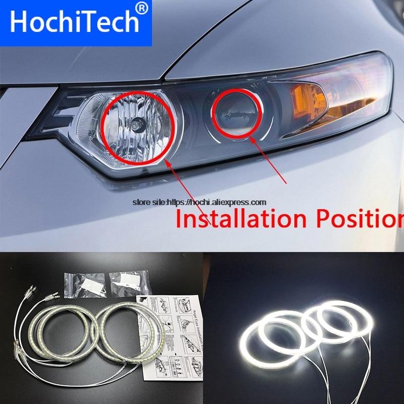 HochiTech for Acura TSX 2009 2012 Ultra bright SMD white LED angel eyes 2600LM 12V halo ring kit daytime running light DRL