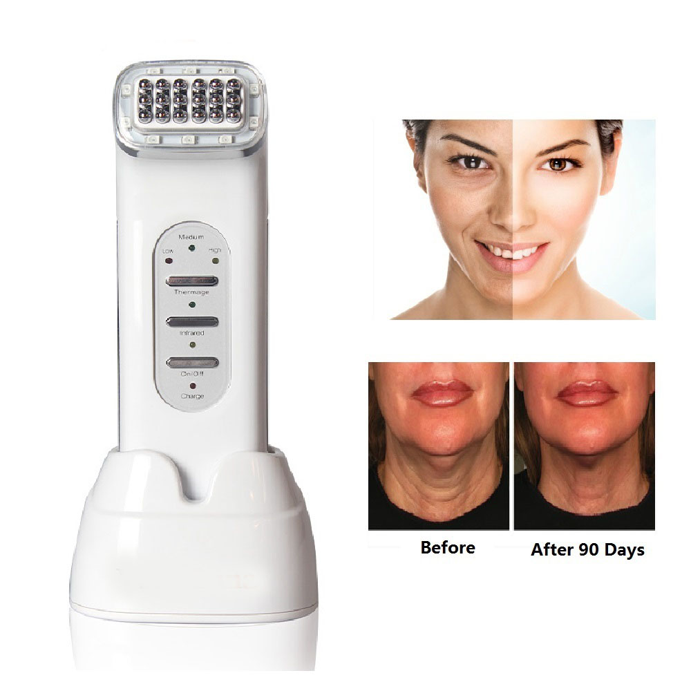 RF Beauty Device Facial Thermage Machine Far-infrared Wave Therapy Frequency Skin Tightening Rejuvenation Skin Care Anti-aging
