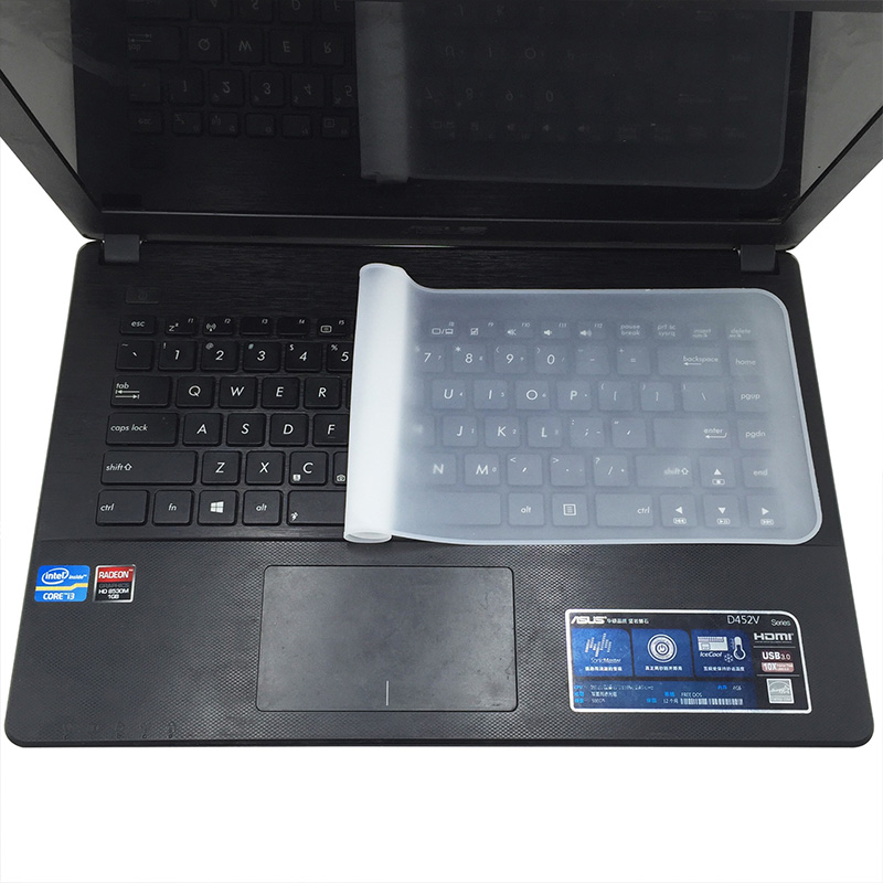 Waterproof Laptop Keyboard Protective 10 11 12 13 14 15 17 Inch  Silicone Transparent Protective Film Keyboard Dustproof Film