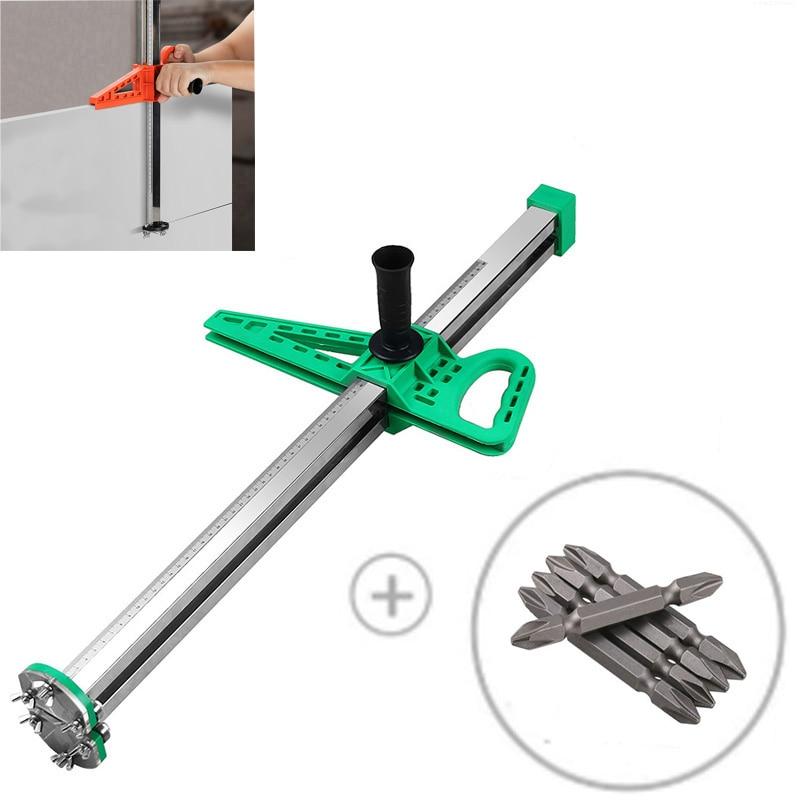 New Manual High Accuracy Gypsum Board Cutter Hand Push Drywall Cutting Artifact Tool with 4 Bearings 20-600mm Cutting Range