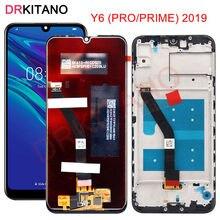 Dla Huawei Y6 2019 wyświetlacz LCD ekran dotykowy dla Huawei Y6 Prime 2019 LCD Y6 Pro 2019 wyświetlacz MRD LX1f ekran z ramką wymienić