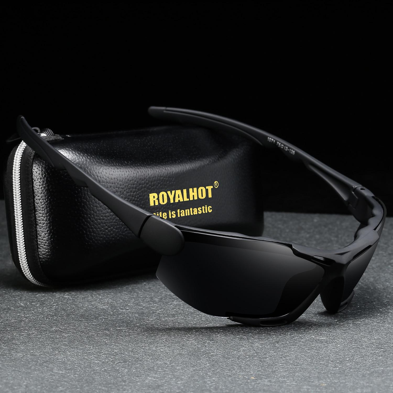 Мужские и женские поляризованные эластичные спортивные солнцезащитные очки RoyalHot, Винтажные Солнцезащитные очки в стиле ретро, 900183
