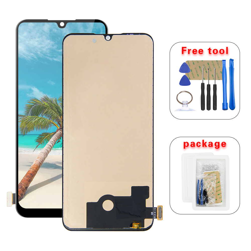 Good Quality LCD For Xiaomi CC9E LCD Display Touch Screen Digitizer Glass Assembly + Frame for Xiaomi Mi A3 MiA3 LCD Display(China)