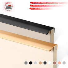 Free Shipping Custom made Door pull drawer cabinet furniture handles black 6 Sizes 7 Colors for Choice