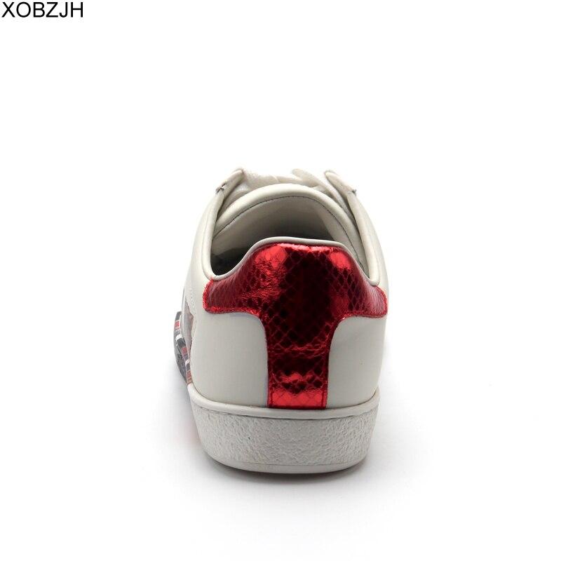 Chaussures de designer décontractées homme baskets de luxe hommes et femmes de haute qualité 2019 marque en cuir véritable mode sans lacet chaussure blanche pour hommes - 5