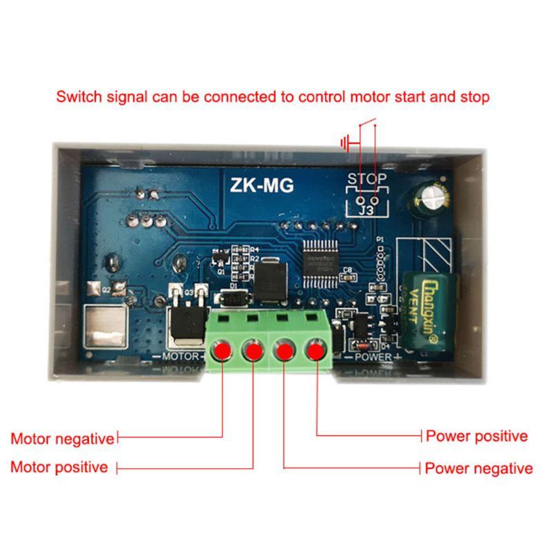 DC 5-30V Motor Controller PWM Einstellbare Geschwindigkeit Encoder Duty Frequenz 5A Max 15A 4XFD