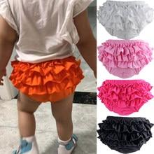 Shorts infantis de algodão, calções de fralda para bebês, recém-nascidos, shorts da moda para crianças pequenas, calças macias de verão