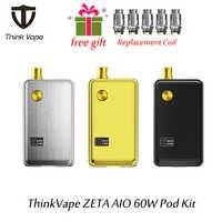 Più nuovo ThinkVape ZETA AIO 60W Pod Kit alimentato da singolo 18650 batteria per ZETA AIO 3ml Serbatoio con maglia bobine atomizzatore
