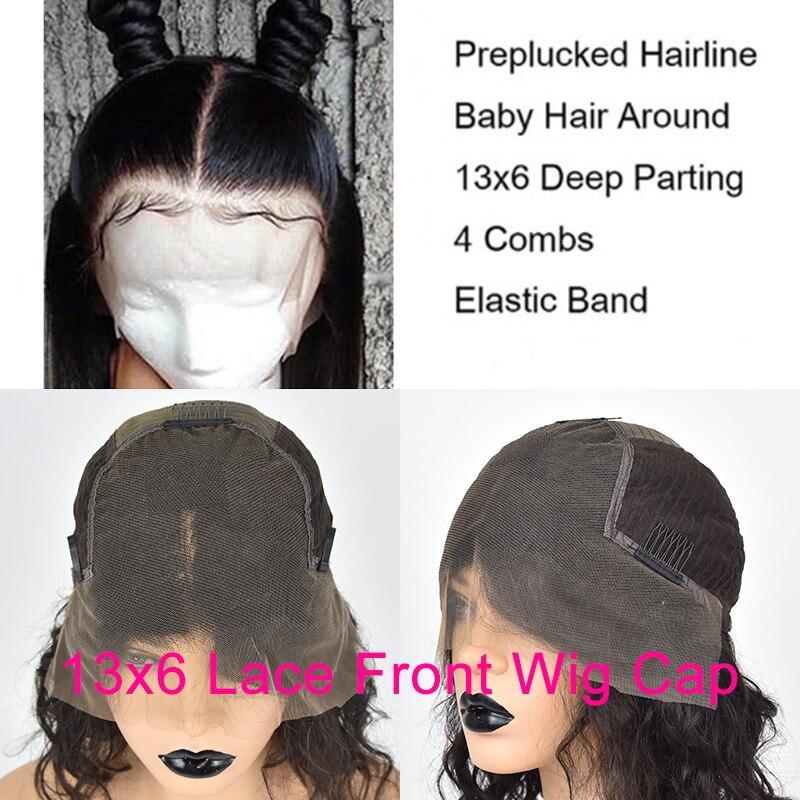 250 Плотность 13x6 Синтетические волосы на кружеве парики из натуральных волос на кружевной 1b 30 Цвет Синтетические волосы на кружеве эффектом деграде (переход от темного к вьющийся парик для Для женщин бесклеевой предварительно черные волосы Remy - 5