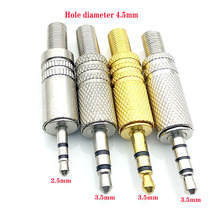 5PCS 3 Pole 4 3.5mm Male Audio Jack Headphones Repair Plug Connector Soldering For Earphone