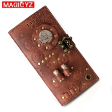 2020 NEW Unisex Wallet Retro Steampunk Hand Wallet Female Clutch Long Wallet Women Card Case Men Short Coin Purse cheap MAGICYZ 0 2kg Polyester 9 5inch Patchwork Rock Interior Slot Pocket Interior Zipper Pocket Interior Compartment Coin Pocket