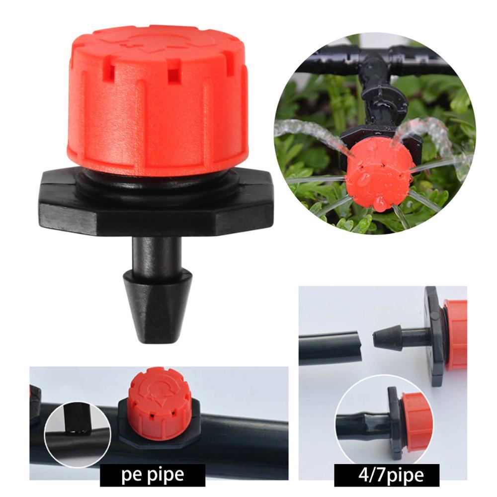 Gewächshaus Garten Bewässerung Bewässerung System Tropfer Rot Micro Drip Bewässerung Bewässerung Emitter Garten Liefert