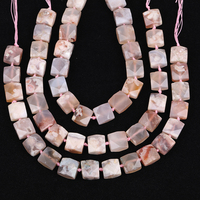 18 20mm Square Slice Cherry Agates Spacer Beads Pendant Necklace,Raw Agates Stone Cube Bead Jewelry Strands EF CT 322AMFJ