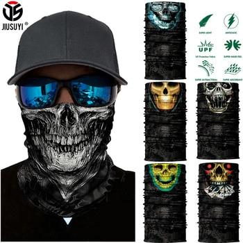 Seamless Balaclava Magic Scarf Neck Face Cover Ghost Skull Skeleton Head Bandana Shield Headband Headwear Bandanas Men Bicycle - discount item  31% OFF Scarves & Wraps