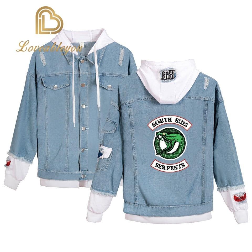 Mens Jacket Southside Riverdale Serpents Jackets Male Riverdale Serpents Streetwear Denim Brand Coat