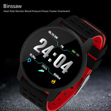 Binssaw smart watch ספורט גברים נשים קצב לב צג לחץ דם כושר Tracker Smartwatch GPS Sporelogio inteligente(China)