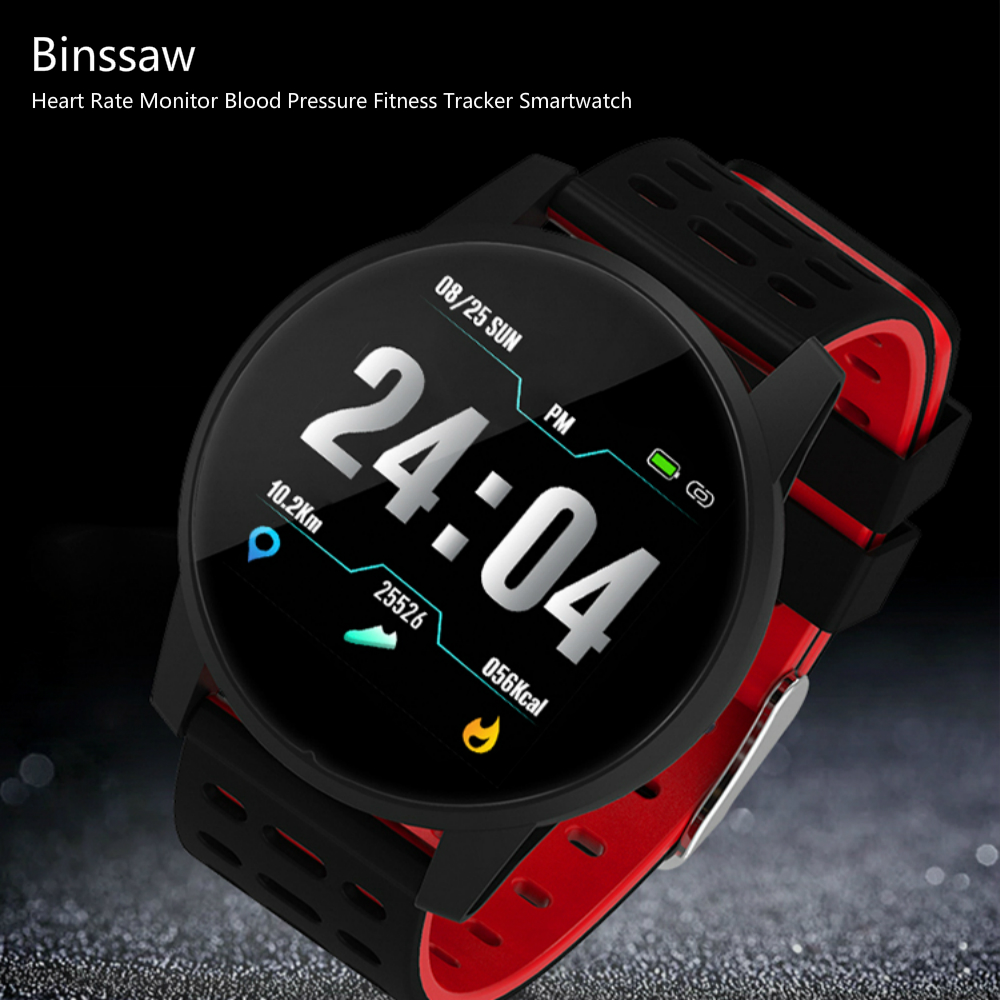 Binssaw Smart Watch Sport Men Women Heart Rate Monitor Blood Pressure Fitness Tracker Smartwatch GPS Sporelogio Inteligente
