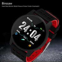 Top deportivo reloj inteligente de las mujeres de los hombres de Monitor de presión arterial Fitness Tracker Reloj GPS reloj deportivo para Android Ios