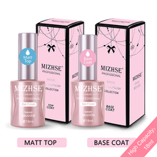 MIZHSE Matte Top Coat UV Gel Nail Polish 2pcs Base and coat 18ML Long Lasting Lak Transparent Color
