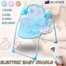 Électrique bébé berceau chaise berçante pour Newborm bébé 0-18 mois bébé sommeil balançoire pliable avec télécommande