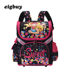 Girls School Backpack Cat Butterfly Folded Orthopedic Backpacks For Children School Book Bags Kids Girls Mochila Infantil Bag children school bags for girls monster high butterfly eva folded orthopedic backpack primary bookbags school backpacks mochila