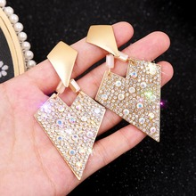 Shiny Crystal Earrings Gifts for Women Nightclub Party Accessories Orecchini Donna Long Gold Earrings Moda Bisuteria Mujer 2020