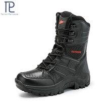 ผู้ชายทหาร Boot COMBAT Mens BOOT ยุทธวิธีขนาดใหญ่ Army BOOT ชายรองเท้าความปลอดภัยรถจักรยานยนต์รองเท้า size40 47