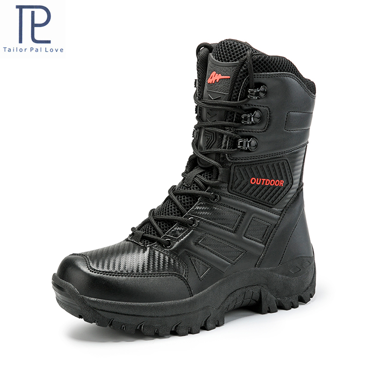 Men's Military Boot Combat Mens Boot Tactical Big Size Army Boot Male Shoes Safety Motocycle Boots Size40-47