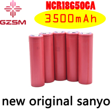 цена на GZSM 18650 battery for Sanyo NCR18650GA rechargeable battery 3500mAh 3.6V 10A For replacement battery