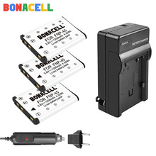 Bonacell 1.2Ah Li-40B Li40B Li-42B EN-EL10 ENEL10 FNP-45 NP-45 Digital Camera Battery + Charger For Olympus Nikon Fujifilm KodaK dste replacement 3 7v 1400mah battery charging dock set for en el10 fuji np 45 klic 7006
