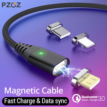 PZOZ 1M 2M Magnetic Cable Micro usb Type C Fast Charging Microusb Type-C Magnet Charger Wire c For iphone X Xr Xs cable